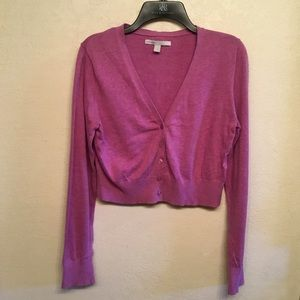 Old Navy Sweaters - 🧣OLD NAVY MID DRIFT CARDIGAN LAVENDER LARGE